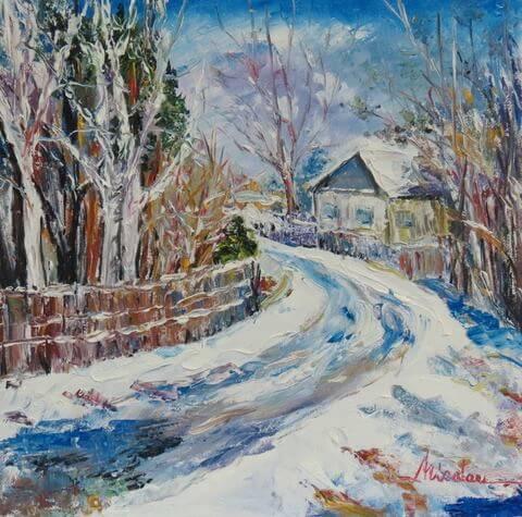 peisaj de iarna luminita cornelia nicolau