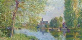 Alfred Sisley Primăvară la Moret Sur Le Loing Rivière