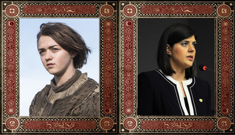 Arya Stark Laura Codruta Kovesi Game of Thrones Politicieni Romani