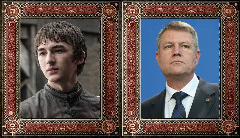 Bran Stark Klaus Werner Iohannis Game of Thrones Politicieni Romani