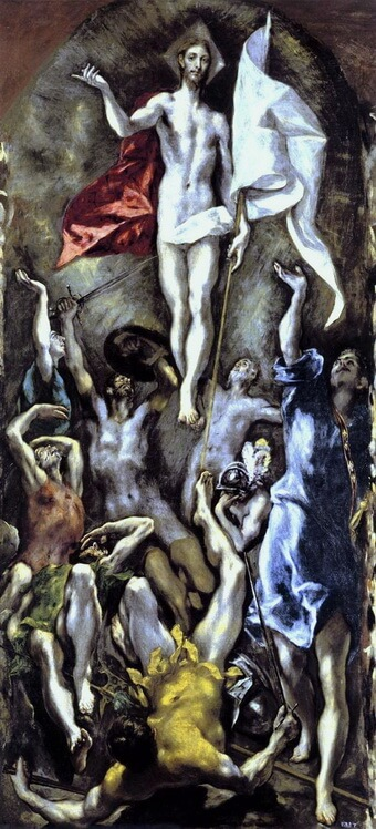 The Resurrection c.1595 - El Greco