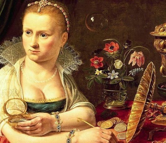 Clara Peeters Vanitate probabil autoportret