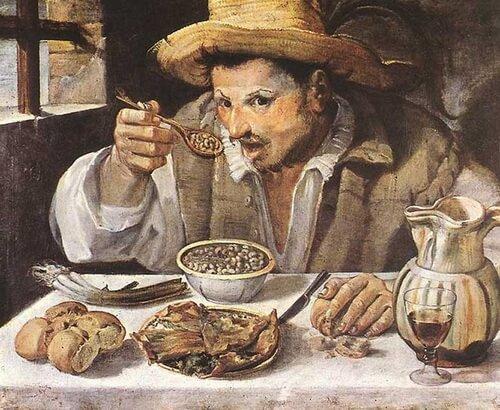 """Annibale Carracci, """"Mâncătorul de fasole"""""""