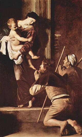 Caravaggio Madonna dei Pellegrini