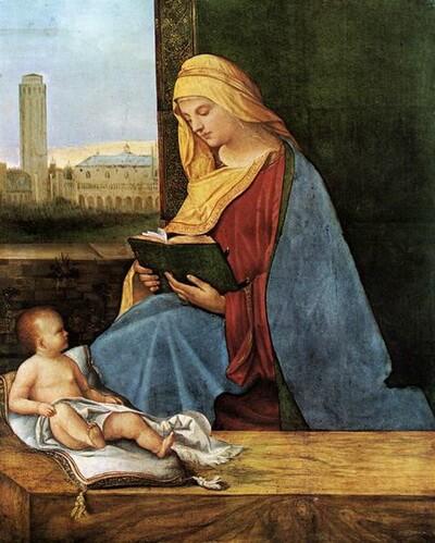 Giorgione Madonna leggente Ashmolean Museum Oxford