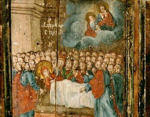 Icoane vechi româneşti la mănăstirea Strâmba Sălaj - Adormirea Maicii Domnului.