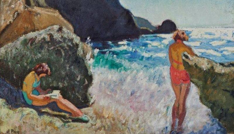 """Jean Puy (8 noiembrie 1876–7 martie 1960), pictor fauvist francez, """"Femei care fac baie la Sauzon"""""""