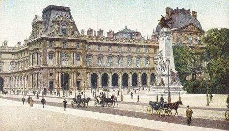 Muzeul Luvru, Paris, la sfârșitul secolului al XIX-lea