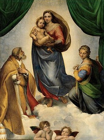 Rafael Madonna di San Sisto 1512 Dresden