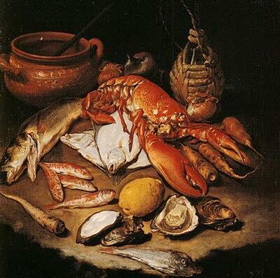 giacomo-cerutti-il-pittochetto-natura-moarta-pesti-homar-stridii