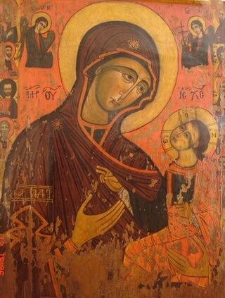 icoana Făcătoare de minuni a Maicii Domnului de la Dintr-un lemn, Vâlcea