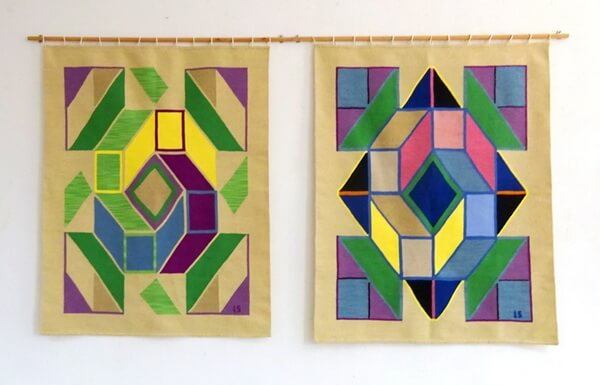 """Lorena Rodiana Sudriu, """"A patra dimensiune"""", tapiserii de lână.Foto Mihaela Nazarie"""
