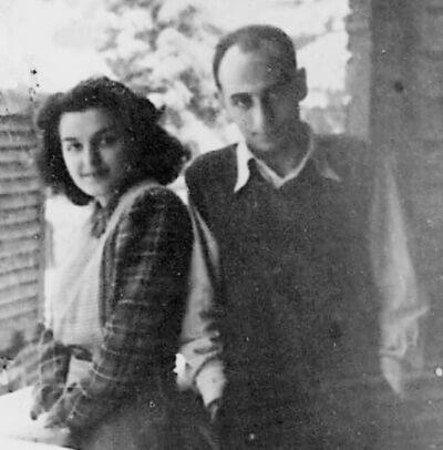 Cornelia și Dinu Pillat, 1944. Fotografie din arhiva Monica Pillat