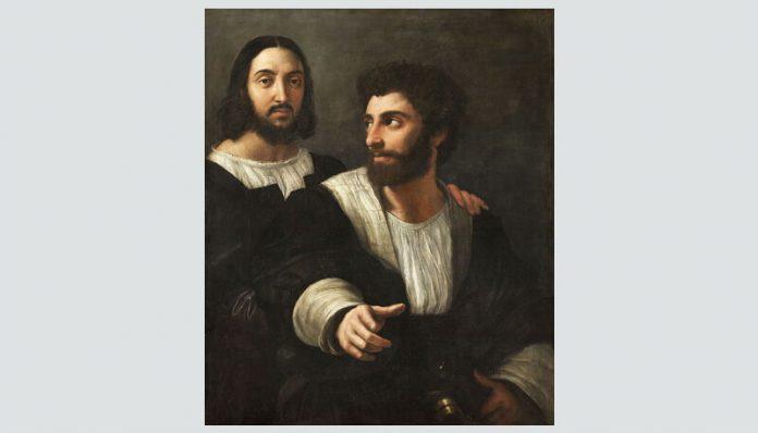 """Rafael, """"Autoportret cu un prieten"""""""