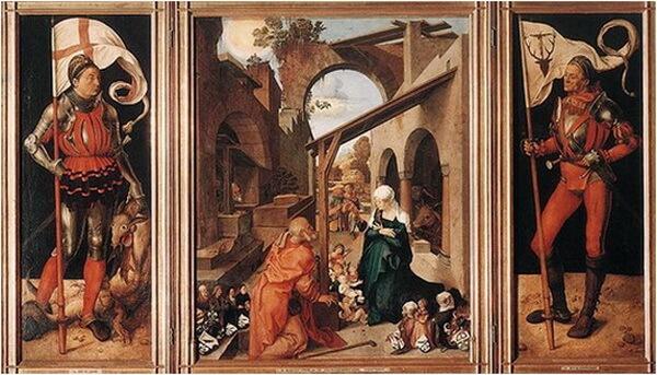 Albrecht_Dürer triptic nasterea domnului 1502 1504
