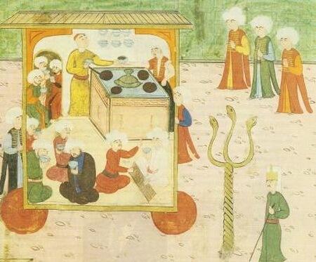 Caruță de cafea, anul 1582 (Kahve arabas)