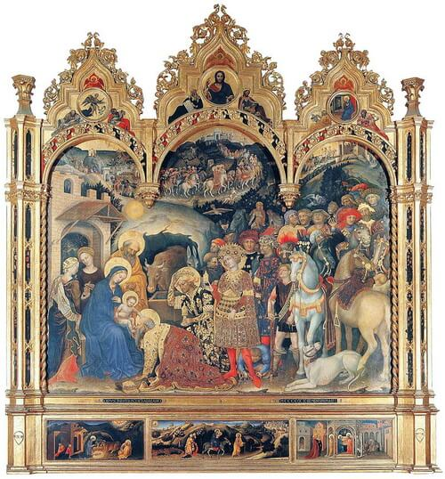 "Gentile da Fabriano ""Adorația Magilor"", 1423"