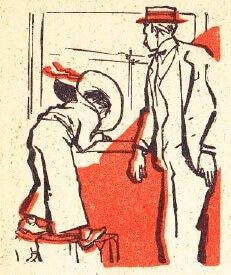 """""""D-l Goe..."""" Ilustrație de M ihail Gion, Editura Tineretului, 1960"""
