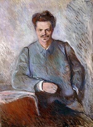 August Strindberg, portret de Edvard Munch, 1892