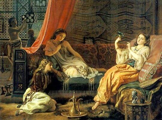 """Francis John Wyburd (1826–1893), """"Harem"""""""