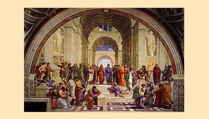 """Rafael, """"Școala din Atena"""", frescă, Vatican"""