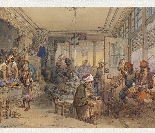 """Amedeo Preziosi, """"Interiorul unei cafenele"""", 1854"""