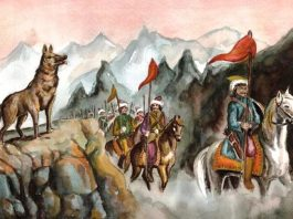 Urfet Șachir, În legenda Ergenekon a turcilor, lupul era un ghid al drumului