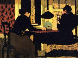 """Édouard Vuillard, """"Două femei la lampă"""""""
