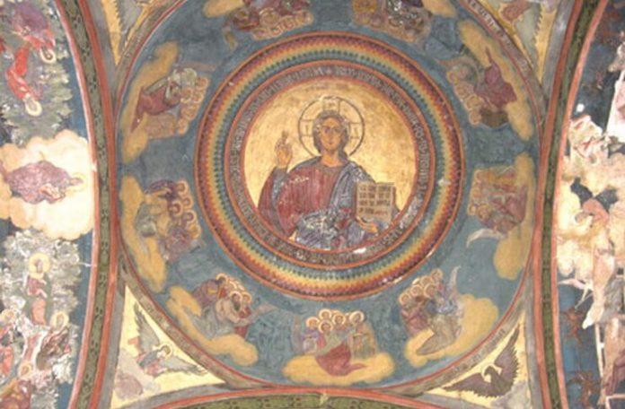 Catedrala Patriarhală din București, frescă de Dimitrie Belizarie